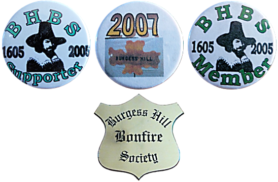 Burgess Hill Sussex Bonfire Night Society Tin Enamel Badge Metal