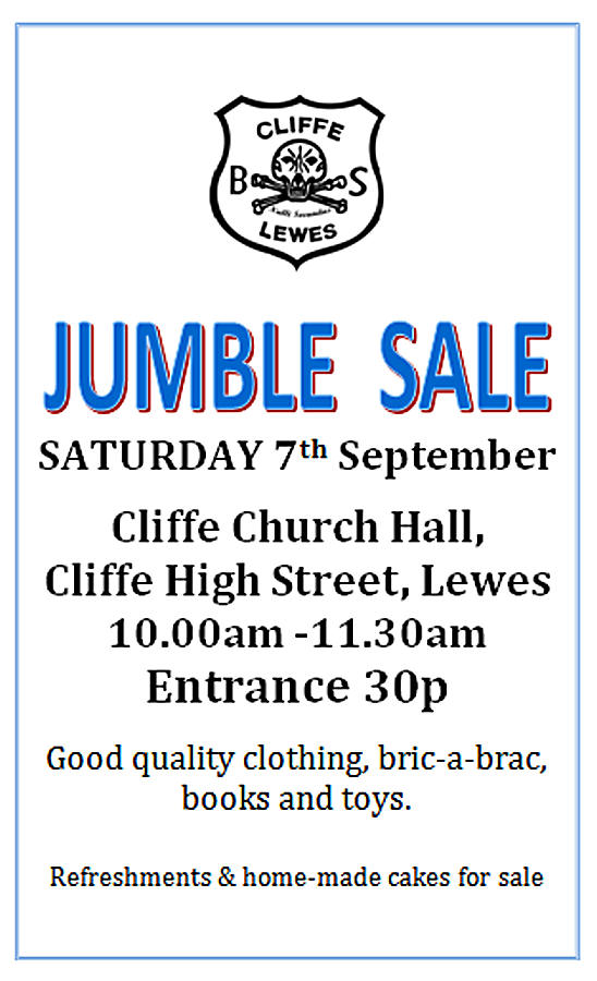 Cliffe Bonfire Society Jumble Sale CBS