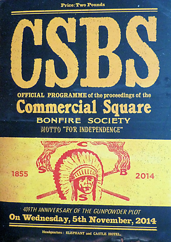 Commercial Square Bonfire Society Programme CSBS 2014