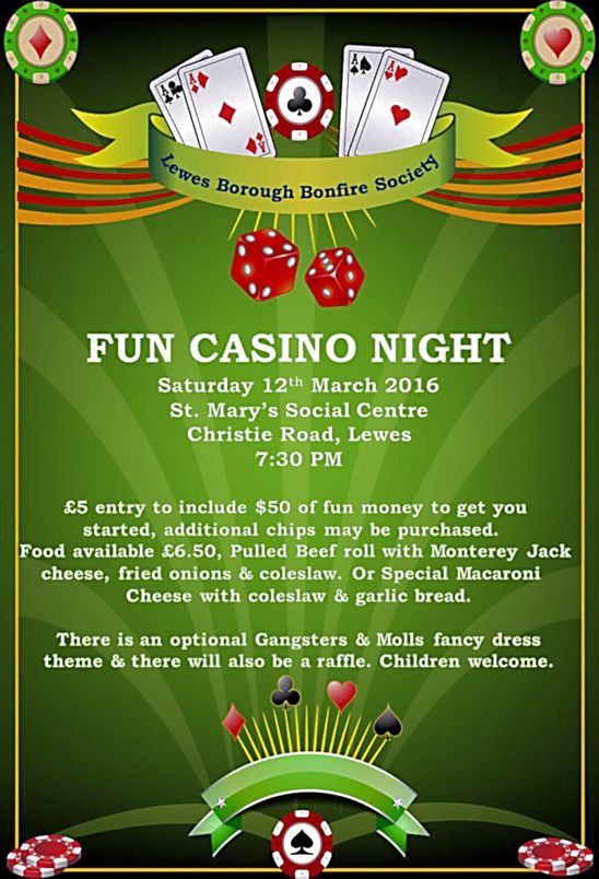 Fun Casino Night Lewes Borough Bonfire Society