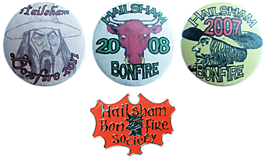 Hailsham Bonfire Night Society Tin Enamel Badge Metal Sussex