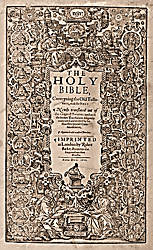 King James Version Bible (KJV) 1611 Title Page
