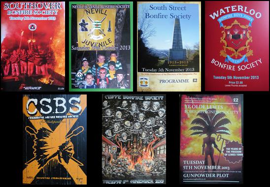 Lewes Bonfire Society Programme 2013
