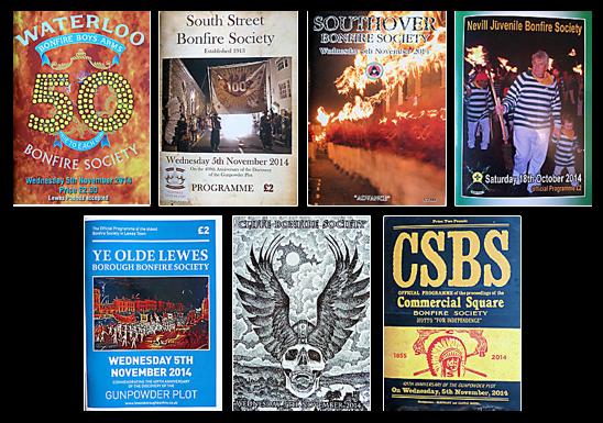 Lewes Bonfire Society Programmes 2014