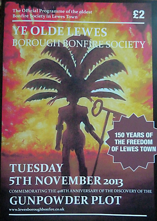 Lewes Borough Bonfire Society (LBBS) Programme 2013