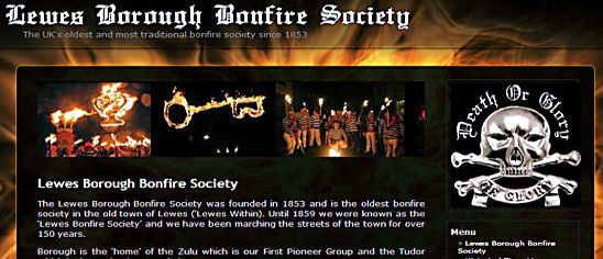 Lewes Borough Bonfire Society lbbs Website