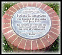 John Launder Memorial : Lewes Sussex Martyrs