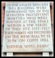 Memorial Star Inn Town Hall Lewes Sussex Martyrs
