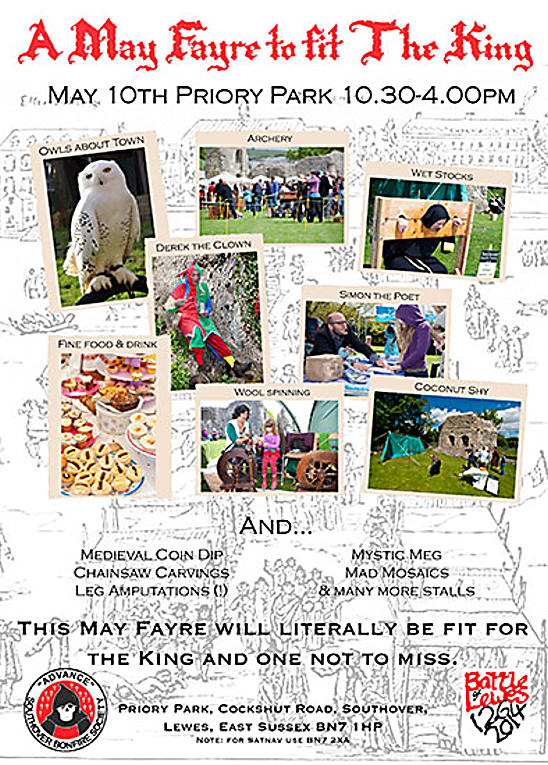May Fayre Fit For A King Southover Bonfire Society Battle Of Lewes Celebrations