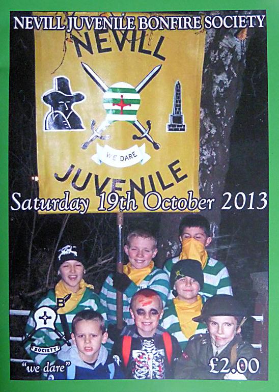 Nevill Juvenile Bonfire Society NJBS Programme 2013