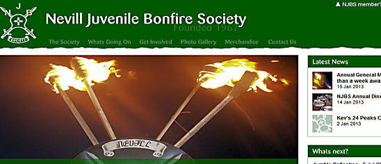 Nevill Juvenile Bonfire Society njbs Website