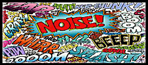 Noise Decibels Fireworks Poster