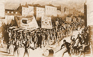 Old Lewes Bonfire Night Celebrations : First Bonfire Societies 1853