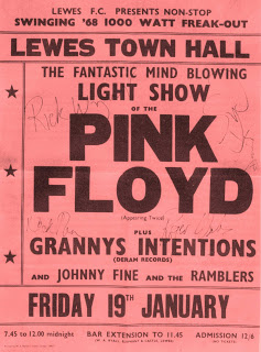Pink Floyd Lewes Town Hall