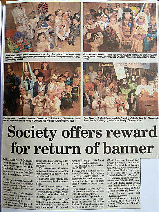 Society Offers Reward For Return Of Banner