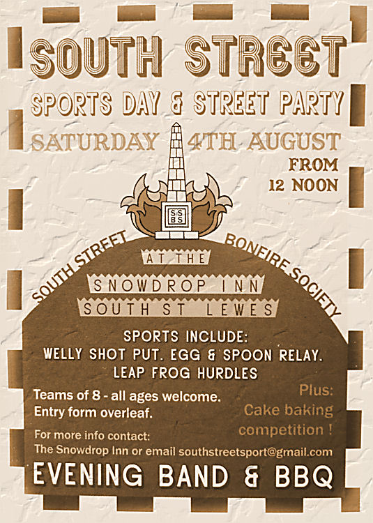 South Street Bonfire Society Sports Day Party