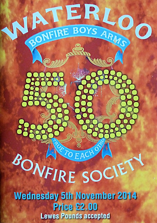 Waterloo Bonfire Society Programme WBS 2014