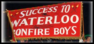 Waterloo Bonfire Society WBS Banner