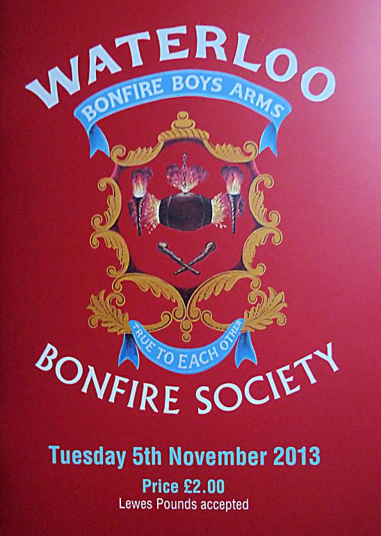 Waterloo Bonfire Society (WBS) Programme 2013