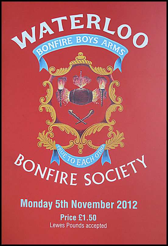 Waterloo Bonfire Society WBS Programme